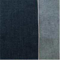 *3 YD PC--Navy Blue Cotton Slub Japanese Selvedge Denim