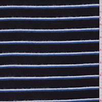 Black Stripe Hacci Sweater Knit