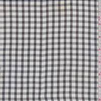 White/Black Gingham Check Silk Chiffon