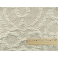 *8 YD PC--Beige/Ivory Trellis Matelasse Home Decorating Fabric