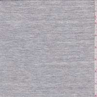 *1 3/8 YD PC--Sterling Heather Grey Cotton Jersey Knit