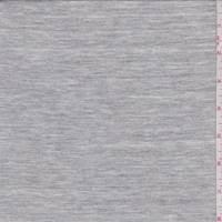*1 3/8 YD PC--Sterling Heather Grey Cotton Jersey Knit