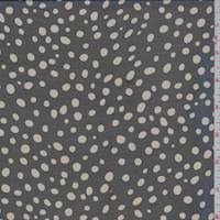Black/Taupe Bubble Dot Silk Chiffon