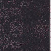 *1 5/8 YD PC--Maroon/Ink Mottled Jersey Knit