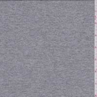 Heather Grey Micro Stripe Rayon Jersey Knit