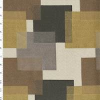 Brown/Multi Rubix Jacquard Home Decorating Fabric