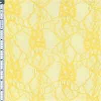 *2 YD PC--Yellow Floral Lace Knit