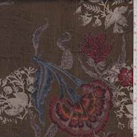 *2 1/2 YD PC--Bronze Floral Satin Jacquard