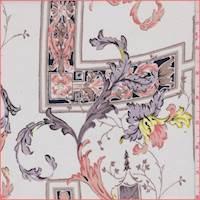 *1 1/8 YD PC--Moonlight Scroll Tile Silk Crepe de Chine