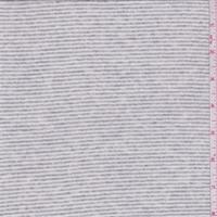 *2 3/8 YD PC--Ivory/Grey Heather Stripe T-Shirt Knit