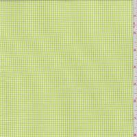 *2 1/2 YD PC--Bright Lime Gingham Check Cotton Shirting