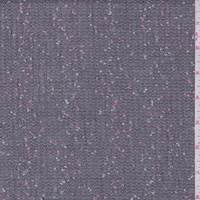*6 YD PC--Black Slubbed Boucle Suiting