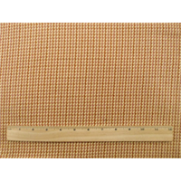 *2 YD PC--Orange/Ivory Houndstooth Twill Plaid Home Decorating Fabric