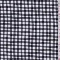 White/Black Gingham Check Double Knit