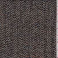 *2 1/8 YD PC--Brown Multi Wool Tweed