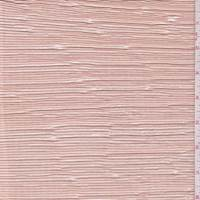 *2 YD PC--Peach Metallic Pleated Crepe de Chine