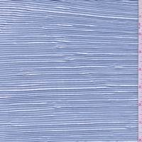 *2 YD PC--Pastel Blue Metallic Pleated Crepe de Chine