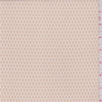 *3 1/4 YD PC--Nude Oval Stretch Lace