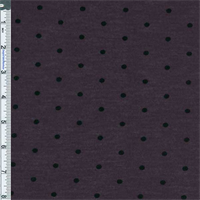 *4 1/4 YD PC--Deep Purple Polka Dot Flock Print Jersey