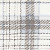 *5 1/4 YD PC--Ivory Plaid Silk Chiffon
