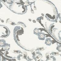 *2 7/8 YD PC--Ivory Print Silk Chiffon