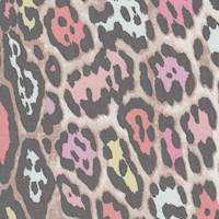 *5 3/4 YD PC--Multicolored Animal Print Silk Chiffon