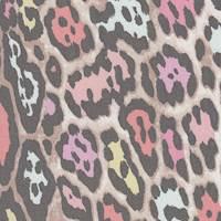 *5 3/4 YD PC--Multicolored Animal Print Silk Chiffon