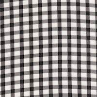 *4 YD PC--Black/Ivory Gingham Silk Crepe de Chine