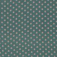 *4 1/4 YD PC--Green Foulard Silk Crepe de Chine