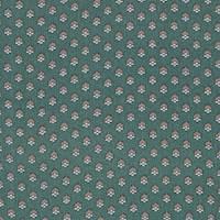 *4 1/4 YD PC--Green Foulard Silk Crepe de Chine