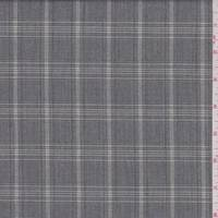 *1 3/4 YD PC--Ash Grey Plaid Suiting