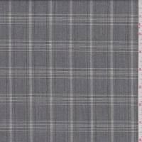 *1 3/4 YD PC--Ash Grey Plaid Suiting