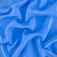 *3 YD PC--Victorian Blue Silk Crepe De Chine