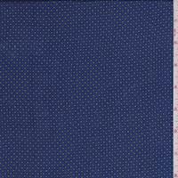 Ocean Blue Lattice Dot China Silk