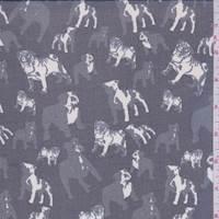 Navy Bulldog Silk Chiffon