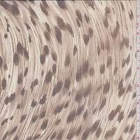 Beige Leopard Silk Chiffon