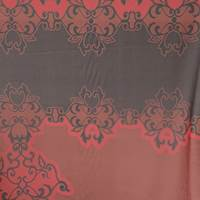 *4 PANELS--Red/Black Silk Chiffon