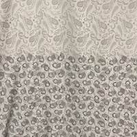 *1 PANEL--Silver/Grey/Black Paisley Silk Crepe de Chine