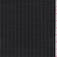 *3 5/8 YD PC--Black/Pale Grey Stripe Tropical Wool Suiting