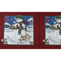 *1 PANEL--Multi Christmas Snowman Tapestry Decorating Fabric