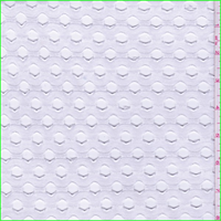 *5 YD PC--White Laser Cut Jersey Knit