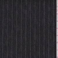 *2 5/8 YD PC--Black/Silver Metallic Stripe Denim