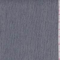 *3 3/4 YD PC--Navy/White Rope Pinstripe Denim