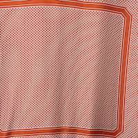 *3 PANELS--Orange Print Silk PANEL