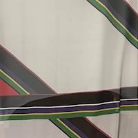 *5 3/8 YD PC--Bold Stripe Silk Chiffon