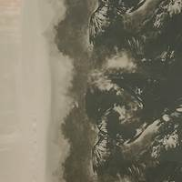 *3 YD PC--Stormy Taupe/Black Silk Chiffon