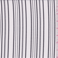 *2 7/8 YD PC--White/Black Stripe Linen Look Shirting