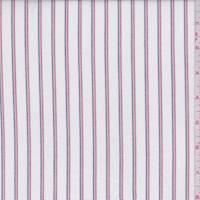 White Multi Stripe Oxford Cotton Shirting