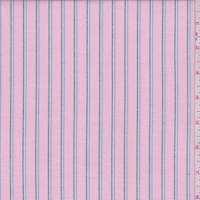 Deep Pink Multi Stripe Oxford Cotton Shirting