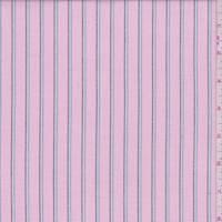 Deep Pink Multi Stripe Oxford Cotton Shirting